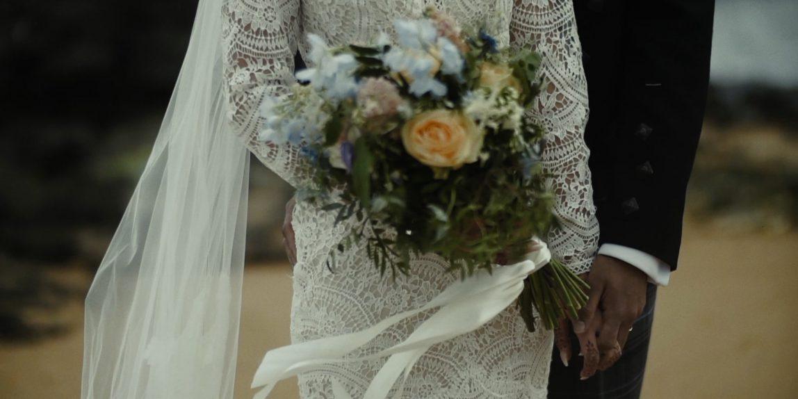 film ślubny, wiązanka ślubna, ślub zagraniczny, Kinkell Byre, ślub humanistyczny